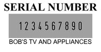 2008/P Cijferbandstempel